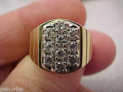 14k Gold Gents Diamond Ring Size 9-1/2     Make Offer