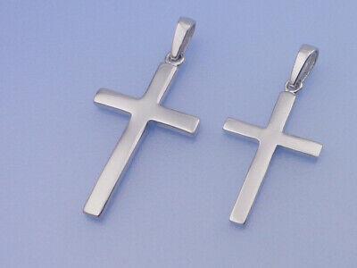 Echt 925 Silber Anhänger Kreuz in klein oder groß wählbar hochglanz Struktur ()