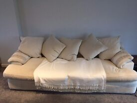 Lovely Very Comfortable White Sofa