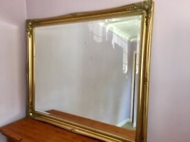 Large Brass Effect Mirror