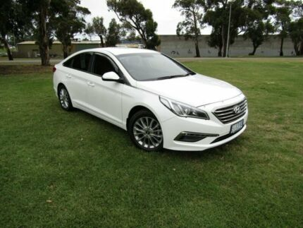 2016 Hyundai Sonata LF2 MY16 Active Ice White/cloth 6 Speed Sports Automatic Sedan Invermay Launceston Area Preview