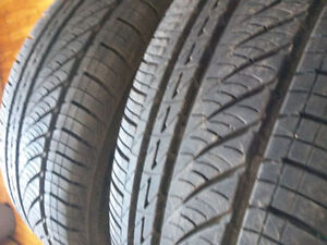 set of 4 summer tires 205/65/15 comme neufpretty much brand new