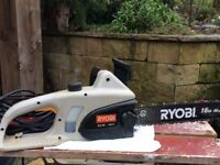 Ryobi 16inch Electric Chainsaw. Hardly used and in excellent condition