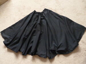 Very FULL Long Black Skirt - Perfect for a Halloween Costume