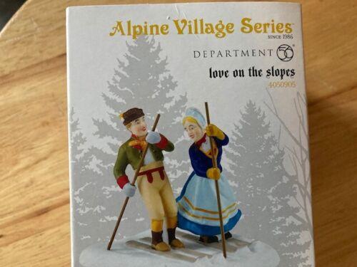 DEPT 56 ALPINE VILLAGE Accessory LOVE ON THE SLOPES NIB