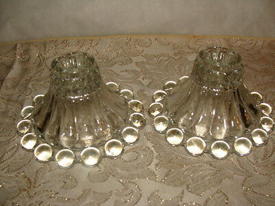 Anchor Hocking Candlewick Candlestick Holders