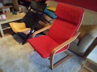 Poang Armchair Birch Veneer | IKEA | Ransta Red