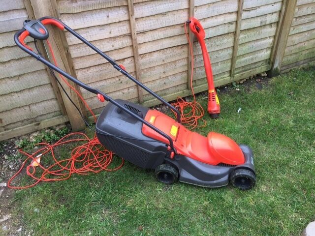 Flymo 12 Quot Blade Electric Lawn Mower And Strimmer 1