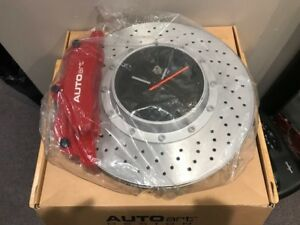 Autoart Brake Disk Clock NEW Red Caliper/Silver Centre (Diecast)