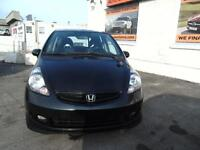 2007 HONDA FIT SPORT 5 SPEED WITH AIR WE FINANCE EVERYONE!!!
