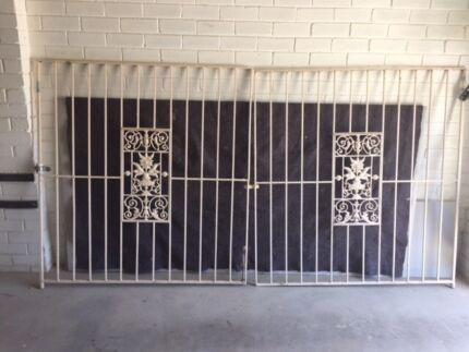 Antique iron gates