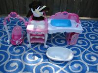 Disney princess Doll & Bath set