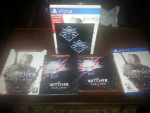 The Witcher 3: Wild Hunt(PS4) w/ extras