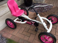 Berg Buddy Pedal Go Kart in White and Pink