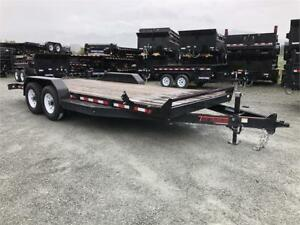 NEW 2018 20' HEAVY DUTY 14,000lb EQUIPMENT FLATDECK TRAILER