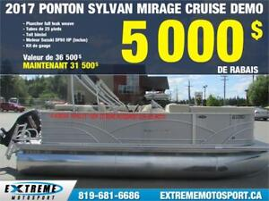 2017 SYLVAN PONTON Mirage Cruise DEMO 68$/SEM