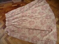 Lovely Wide Bedroom Curtains Pink & Beige