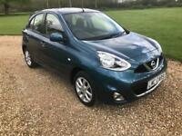 2014 (14) Nissan Micra 1.2 Acenta 5 door manual only 13,700 miles IMMACULATE