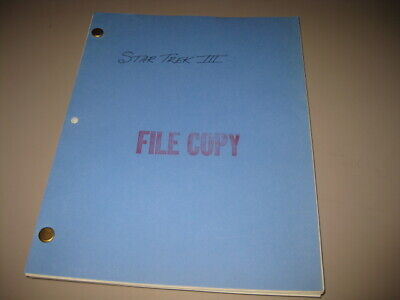 Original 1984 STAR TREK III The SEARCH FOR SPOCK  Continuity DIALOGUE SCRIPT