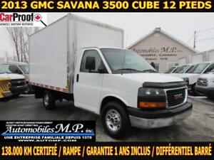 2013 GMC Savana 3500 ROUE SIMPLE 138.000 KM CERTIFIÉ GARANTIE 1