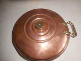 Copper bed warmer Vintage copper bed pan
