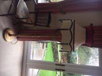Handmade standard lamp in stunning oak