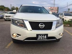 2014 Nissan Pathfinder S|AWD|REAR VIEW|WHITE|