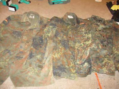 3 east german military Flecktarn Bundeswehr camo army uniform jacket coat