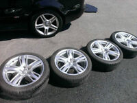 OEM Audi RS5 19x8 5x112 +26 Wheels and Falken Tires