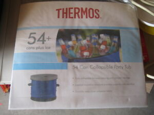 THERMOS Collapsible Cooler Party Tub holds 54 cans + ice