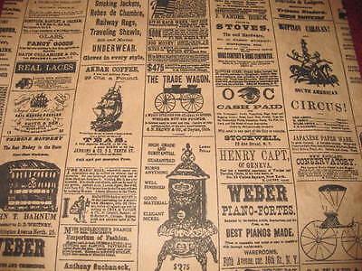 Lot 200 6x9 Newspaper Print Paper Kraft Bagsvintage Style Newsprint Favor Craft