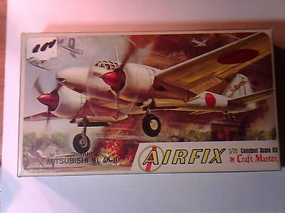 Vintage AIRFIX 1:72 Scale DINAH MITSUBISHI Ki 46-II Japanese Plane Model Kit