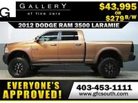 2012 RAM 3500 DIESEL LIFTED *EVERYONE APPROVED* $0 DOWN $279/BW!