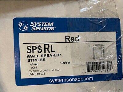 System Sensor Spsrl Fire Alarm Speakerstrobe Wall Red New
