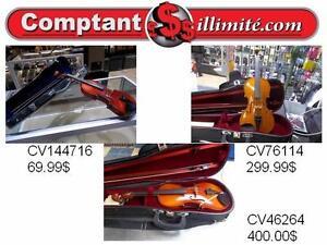 Du débutant aux professionnels, Chez Comptant illimite.com, nous avons un vaste choix de violons