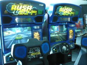 Arcade machine pinball Rush 2049 jeu video