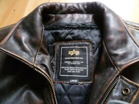 Alpha Brown Leather Jacket