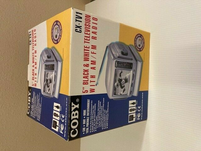 """Coby CX-TV1 5"""" Analog CRT Television **BRAND NEW**"""