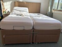 Adjustable king size bed and mattresses