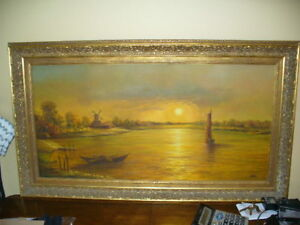 BEAUTIFUL FRAMED ORIGINAL OIL ON CANVAS SIGNED BY HELD
