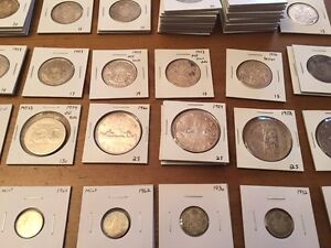 Canadian and American silver coins