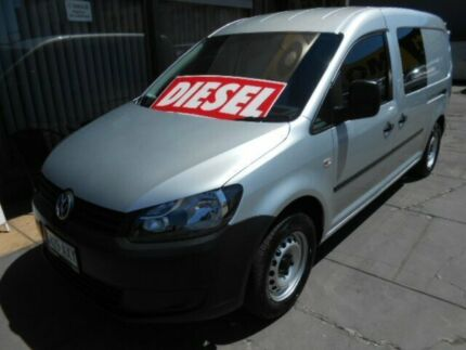 2013 Volkswagen Caddy 2K MY13 Maxi TDI250 Silver 7 Speed Auto Direct Shift Van West Hindmarsh Charles Sturt Area Preview