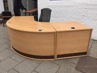 Oak Reception Desk