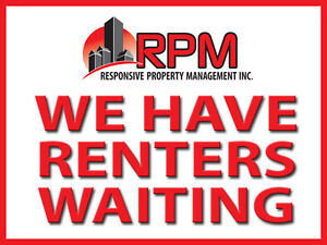PEI LANDLORDS: Tenants Waiting - We Need Your Quality Rentals!