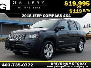 2015 Jeep Compass 4X4 North $119 bi-weekly APPLY NOW DRIVE NOW