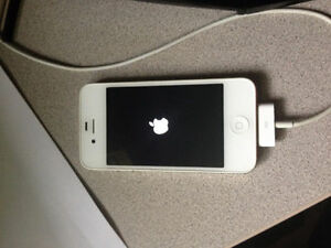 iPhone 4S 16G, works but has broken power button. OBO