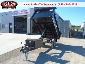 BUILT STRONGER - 2017 QUALITY 5X8 SINGLE AXLE DUMP TRAILER -SALE
