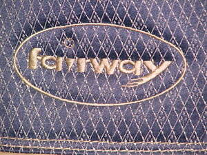 Fairway golf bag and 14 pc