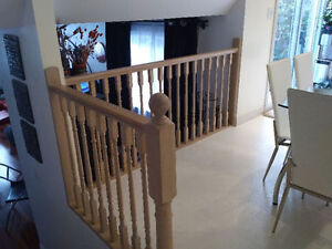 Oak Spindles and handrails