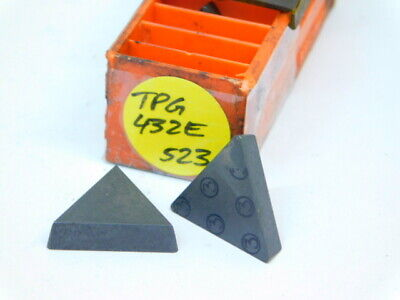 8pcs. Tpg 432e Grade 523 Carbide Inserts New Surplus Carboloy